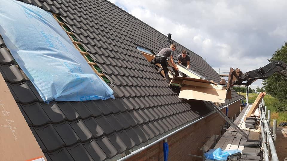 Aanleg nieuwe dakramen